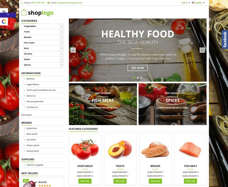 Food Products store Template