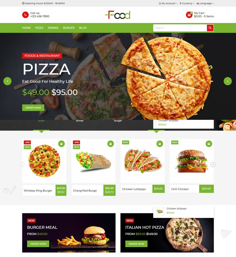 Food - Responsive Prestashop Theme