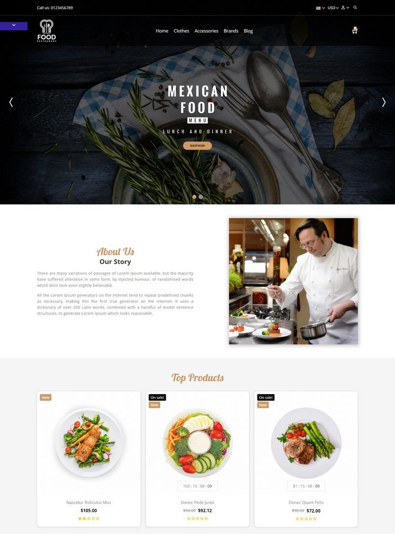 Food Store Template