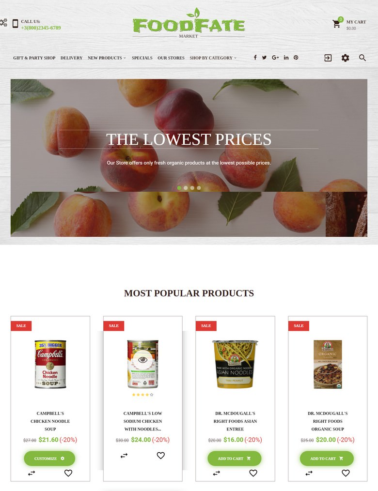 FoodFate - Food Store PrestaShop Theme