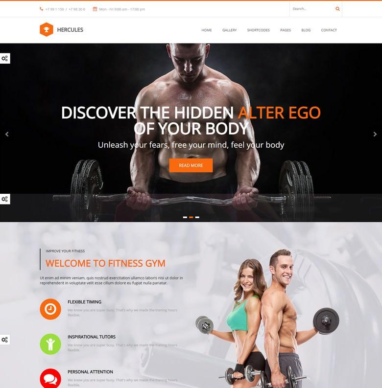 Gym Gym fitness WordPress Theme