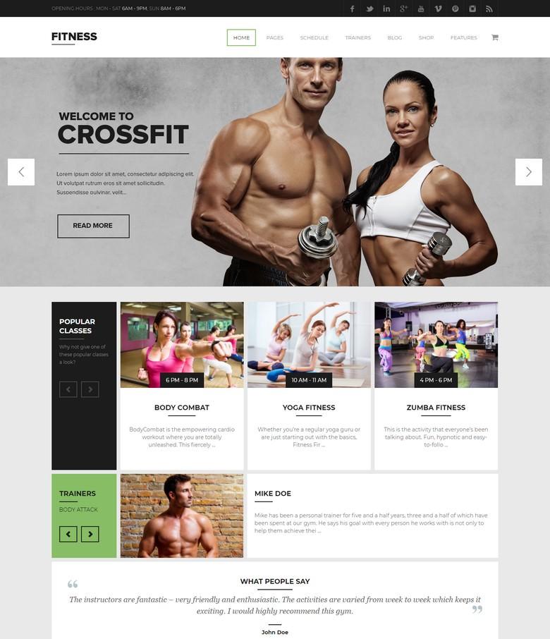 Gym WordPress Theme Fitness