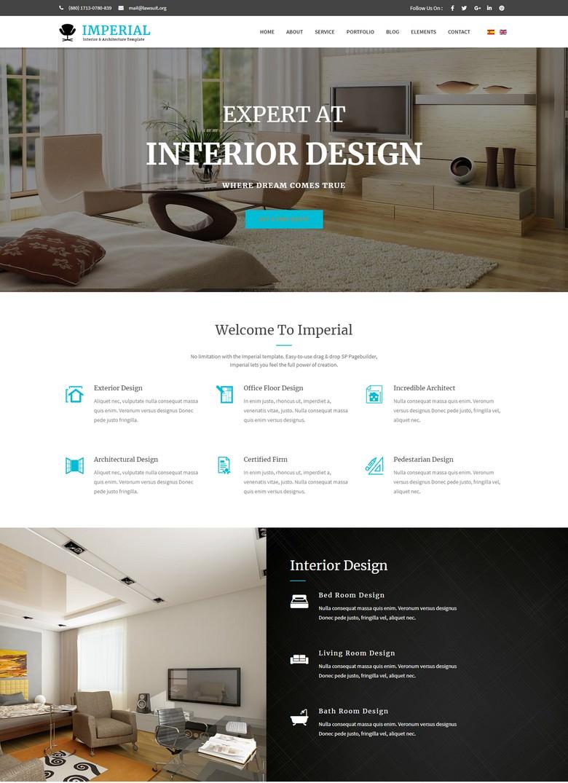 Imperial - Interior & Architecture Joomla Template