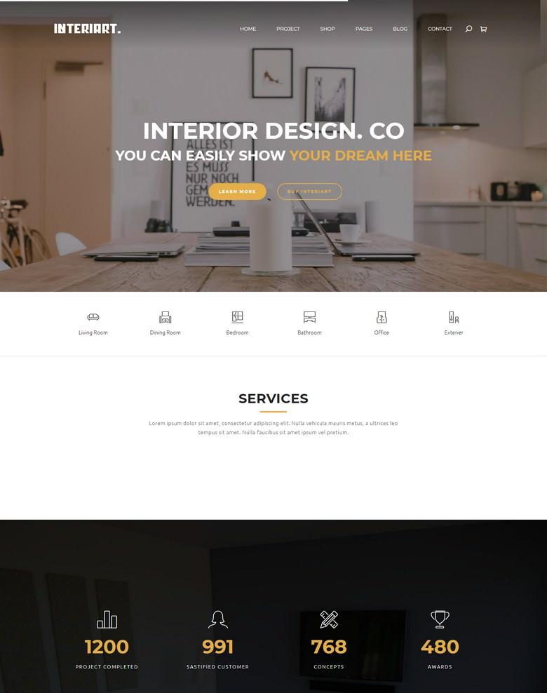 InteriArt - Furniture & Interior Joomla Template