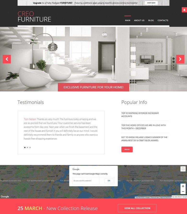 Interior & Furniture Free Joomla Template Joomla Template
