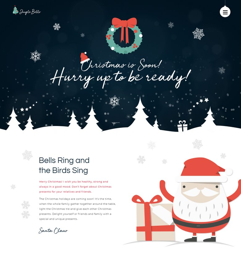 Jingle Bells - Event Making Holiday Party Website