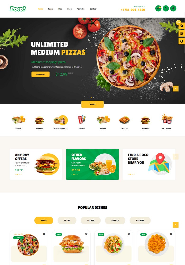 Leo Poco - Fast Food Restaurant Prestashop Theme