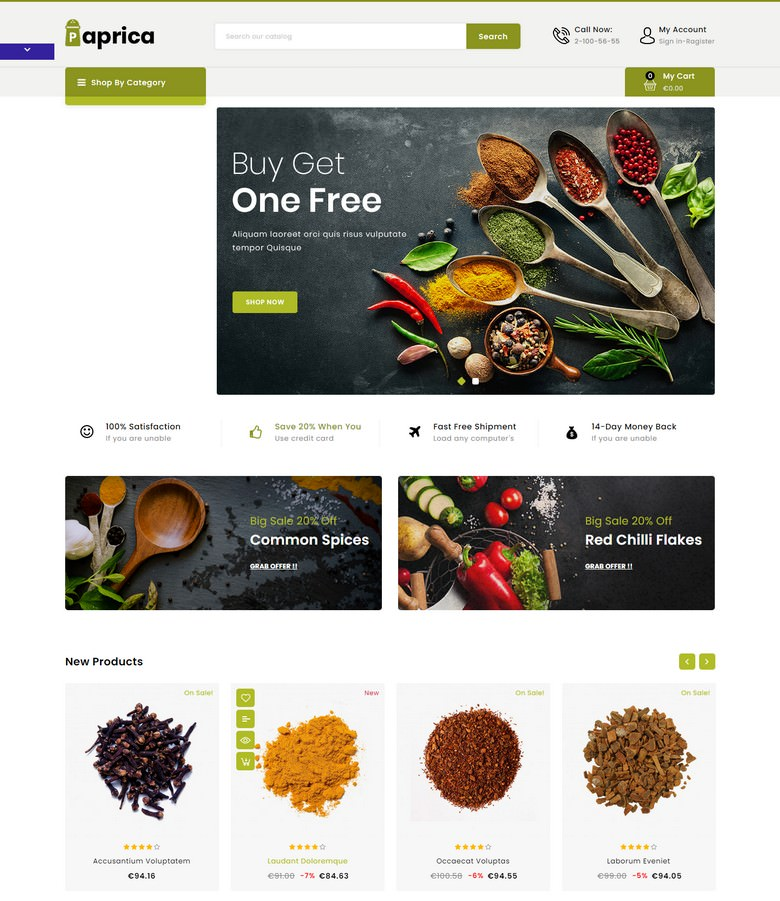 Paprica - Spice Store Template