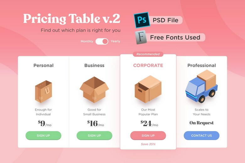 Pricing Table v.02