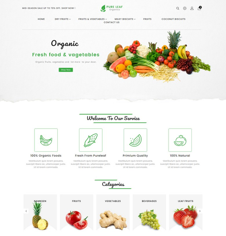 PureLeaf - Organic PrestaShop Theme
