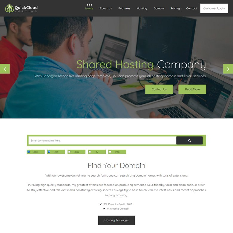 Quickloud - Free Bootstrap 4 Website Template