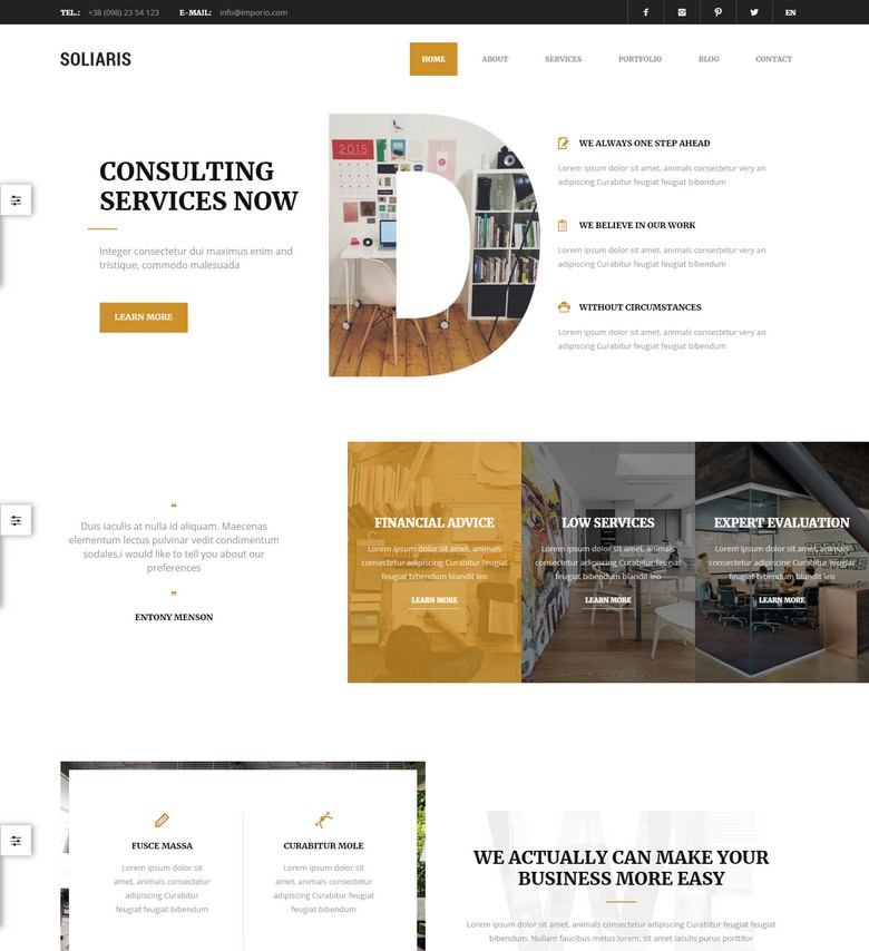 Soliaris - Business Bootstrap WordPress Theme