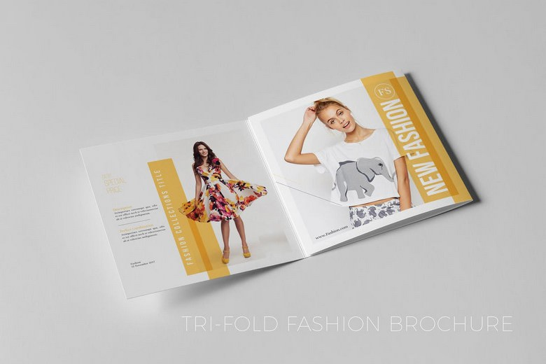 Square Tri-Fold Fashion Brochure