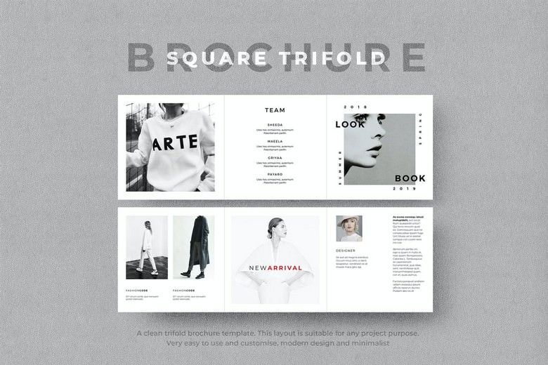 Square Trifold Fashion Brochure
