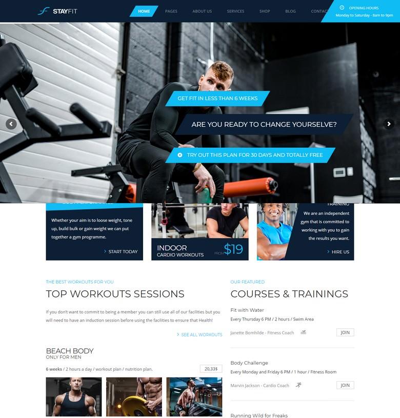 Stayfit Gym & Fitness WP Theme