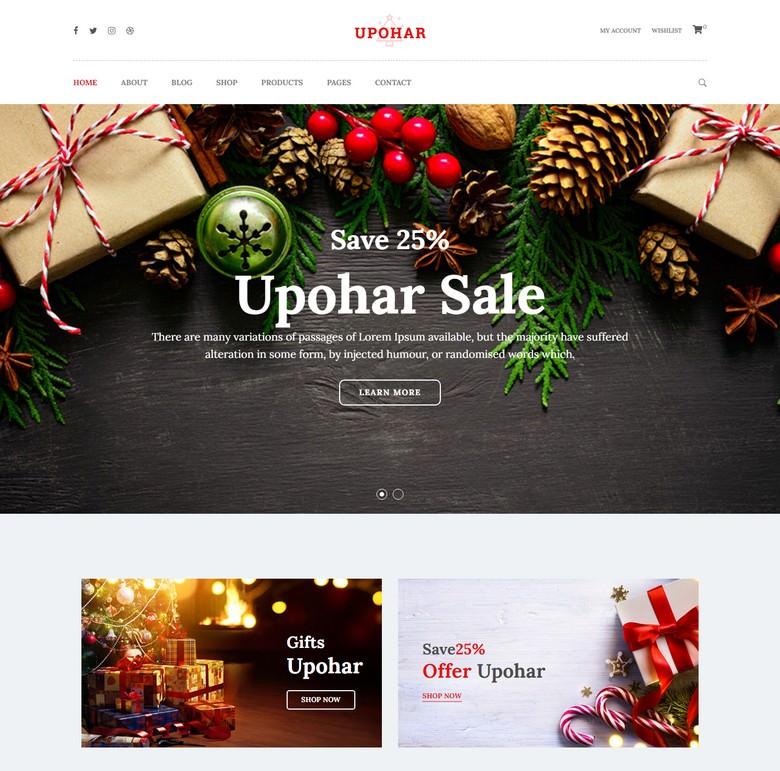 Upohar - Christmas WooCommerce WordPress Theme