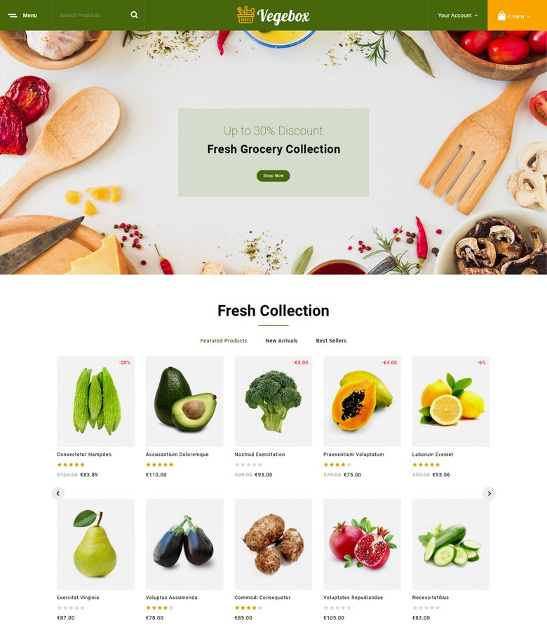 Vegebox - Vegetables Store PrestaShop Theme