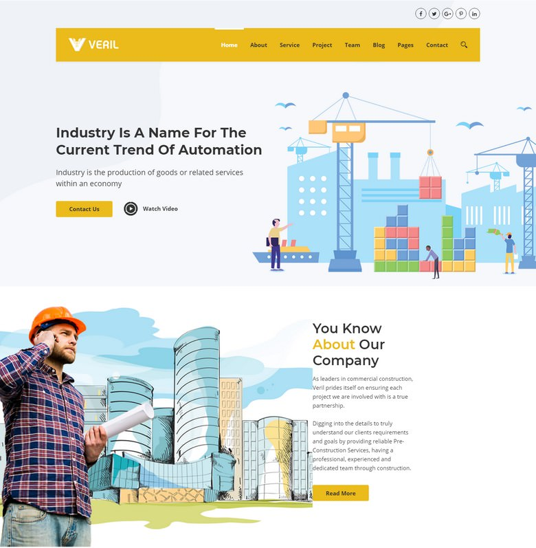Veril - Construction and Industrial Joomla Template