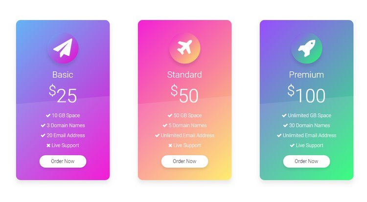 Pricing Table ui