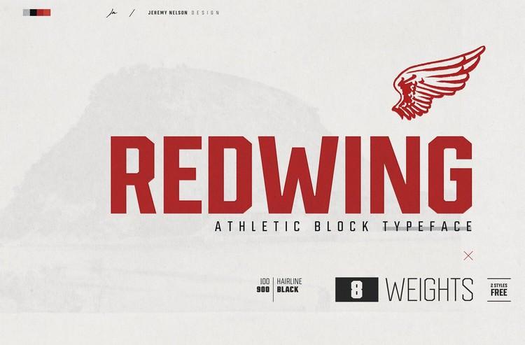 Redwing Free Athletic Block Display Typeface
