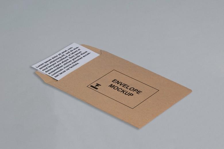 Postcard + envelope Mockup