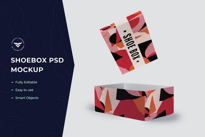 Shoe Box Mockup Template