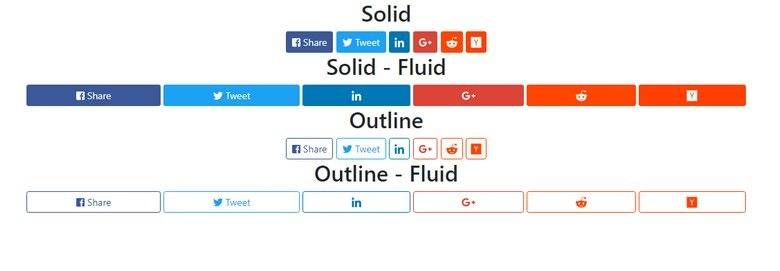 Social Share Buttons for Bootstrap 4 and Font Awesome 5