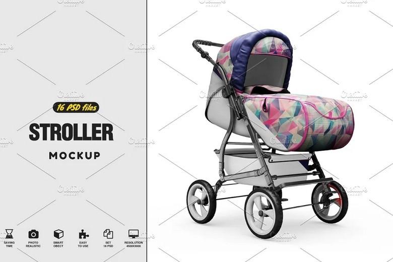 Stroller Mockup