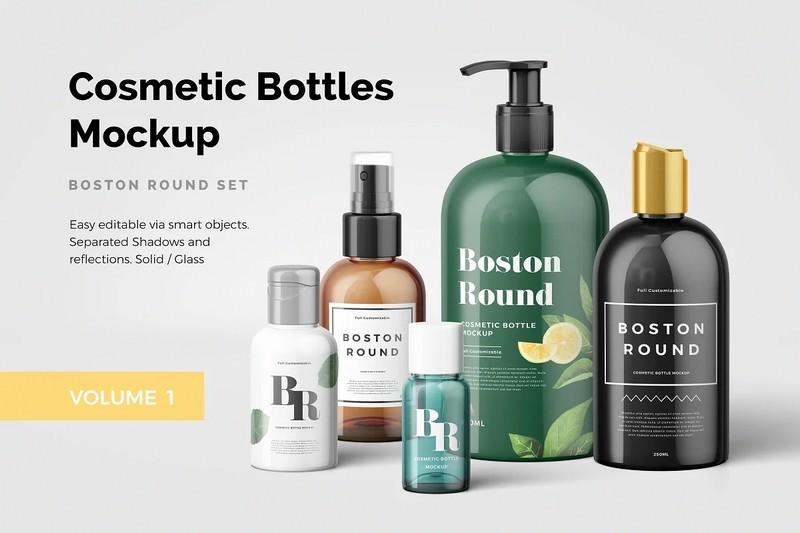 Cosmetic Bottles Mockup Vol.1