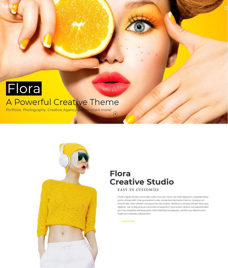 Flora - Responsive Creative WordPress Theme