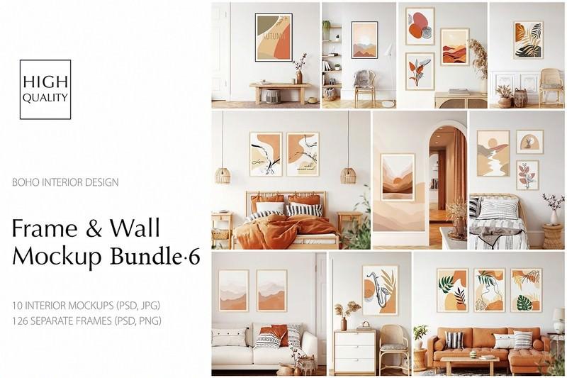 Frame & Wall Mockup Bundle - 6