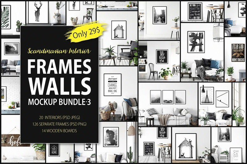Frames & Walls Scandinavian Bundle-3