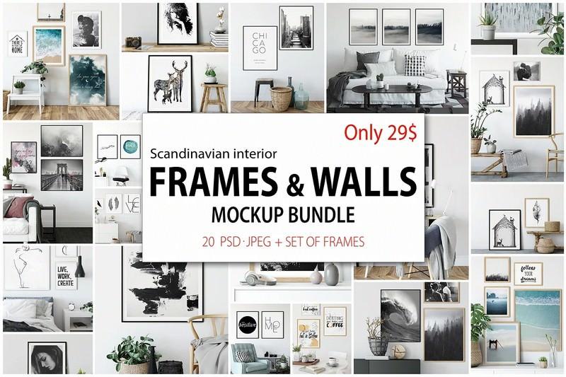 Frames & Walls Scandinavian Bundle