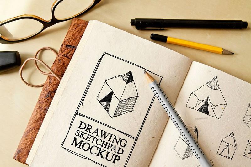 Free Drawing Sketch Pad Mockup