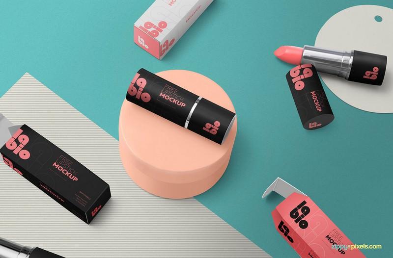 Free Matte Lipstick Mockup