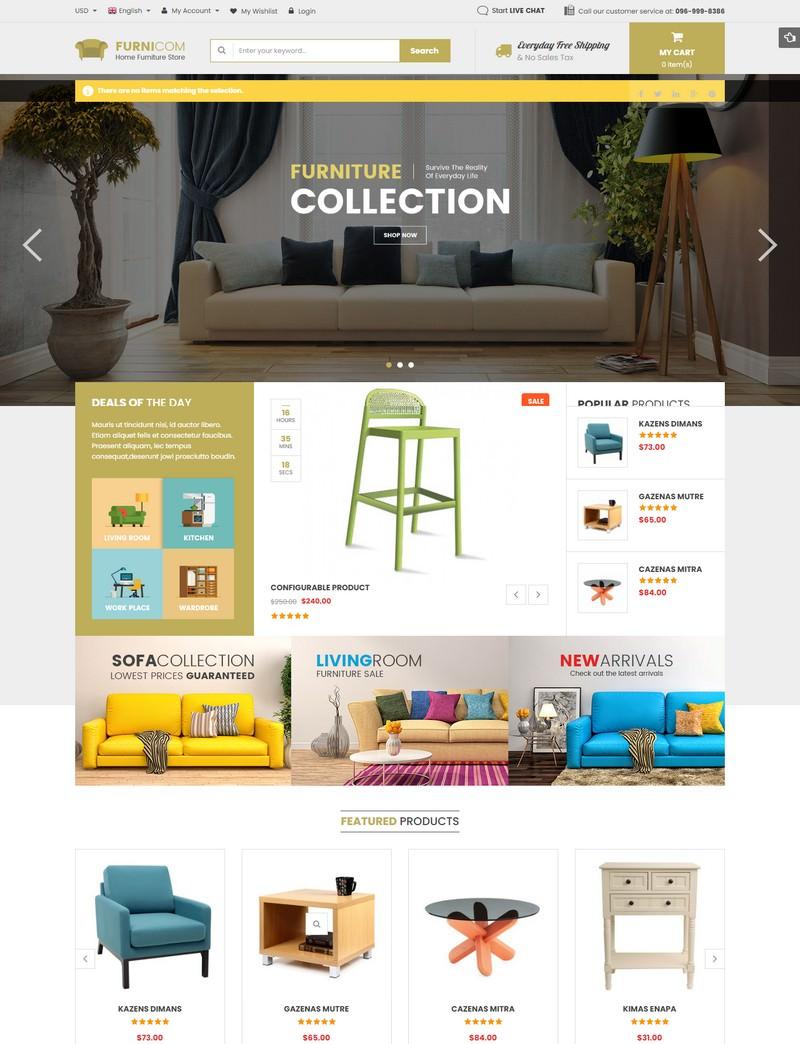 Furnicom - Responsive Magento 2 and 1.9 Furniture Theme