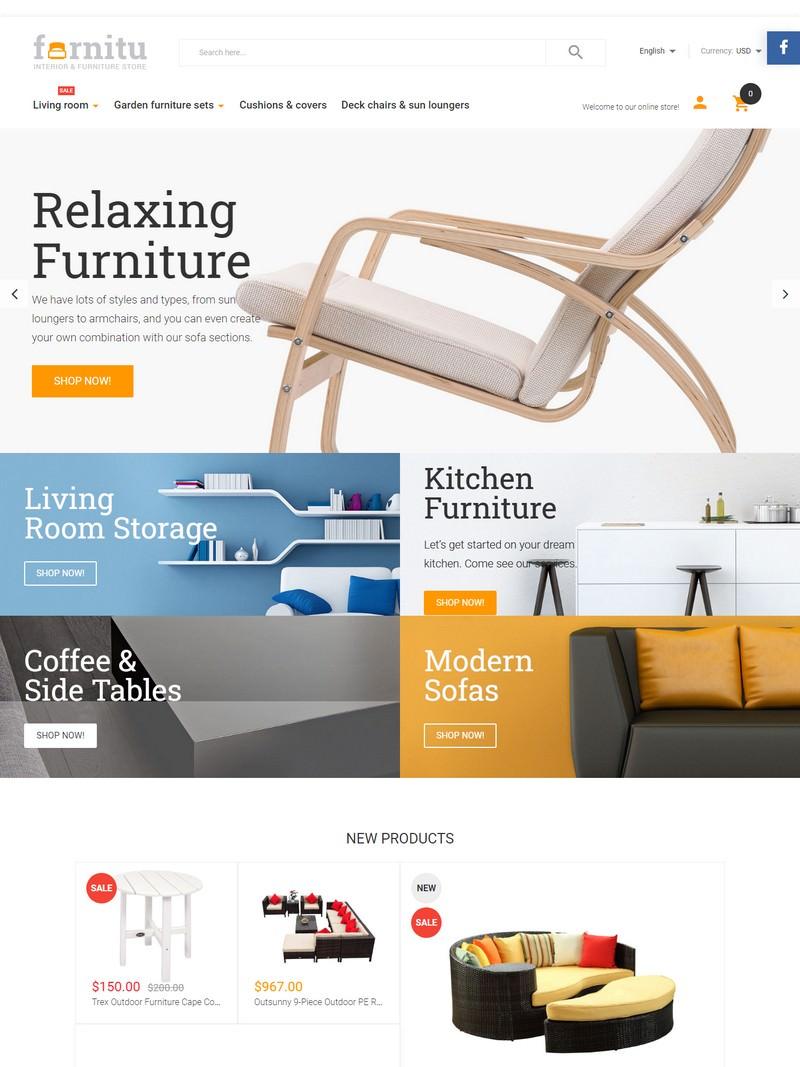 Furnitu - Interior & Furniture Responsive Magento 1.9x Theme