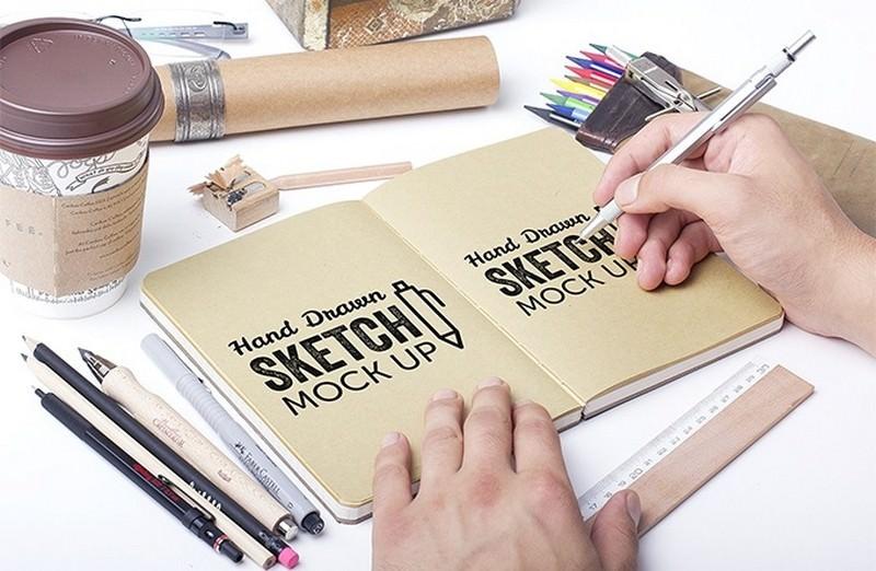Hand Drawn Sketch Mock-Ups