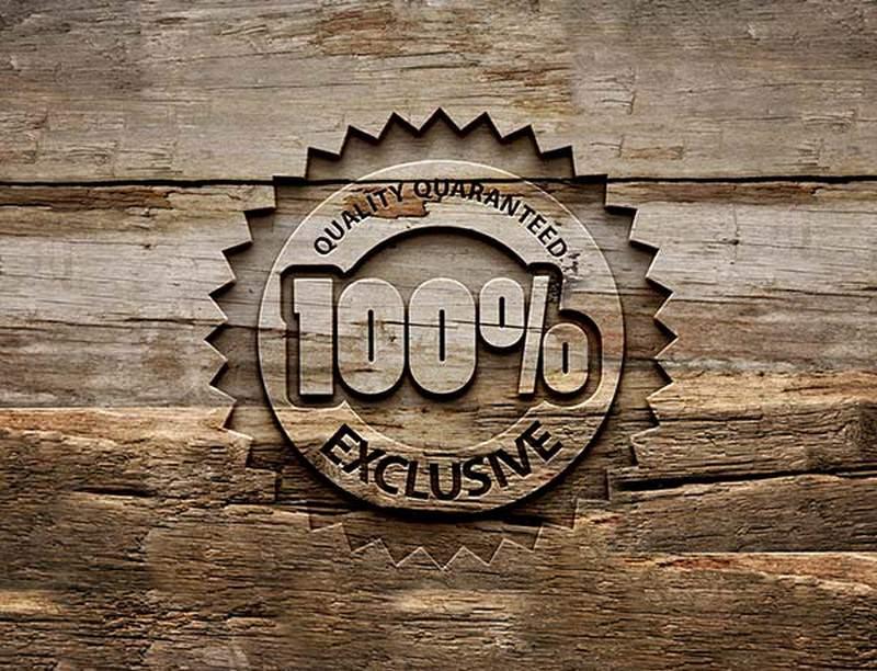 Nice Engraved Wood Logo MockUp