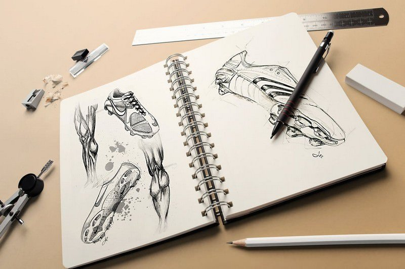 Photo-realistic Sketchbook Mock-ups
