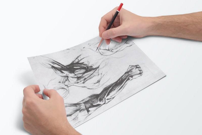 Photorealistic Sketch Book Mock