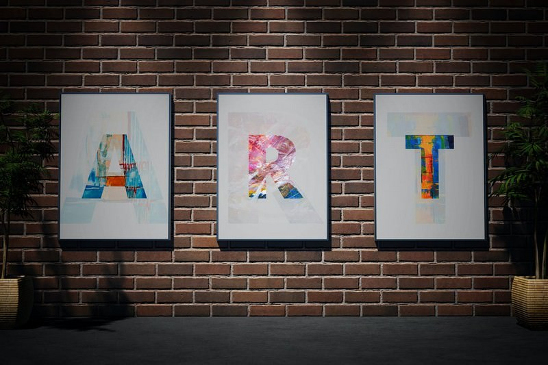Posters Mockup - Brick Wall