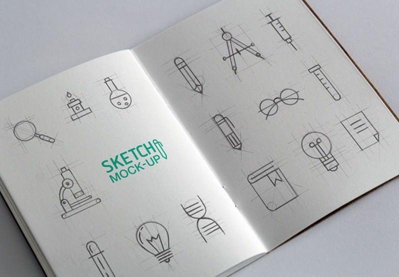 Sketchbook MockUps PSD #2