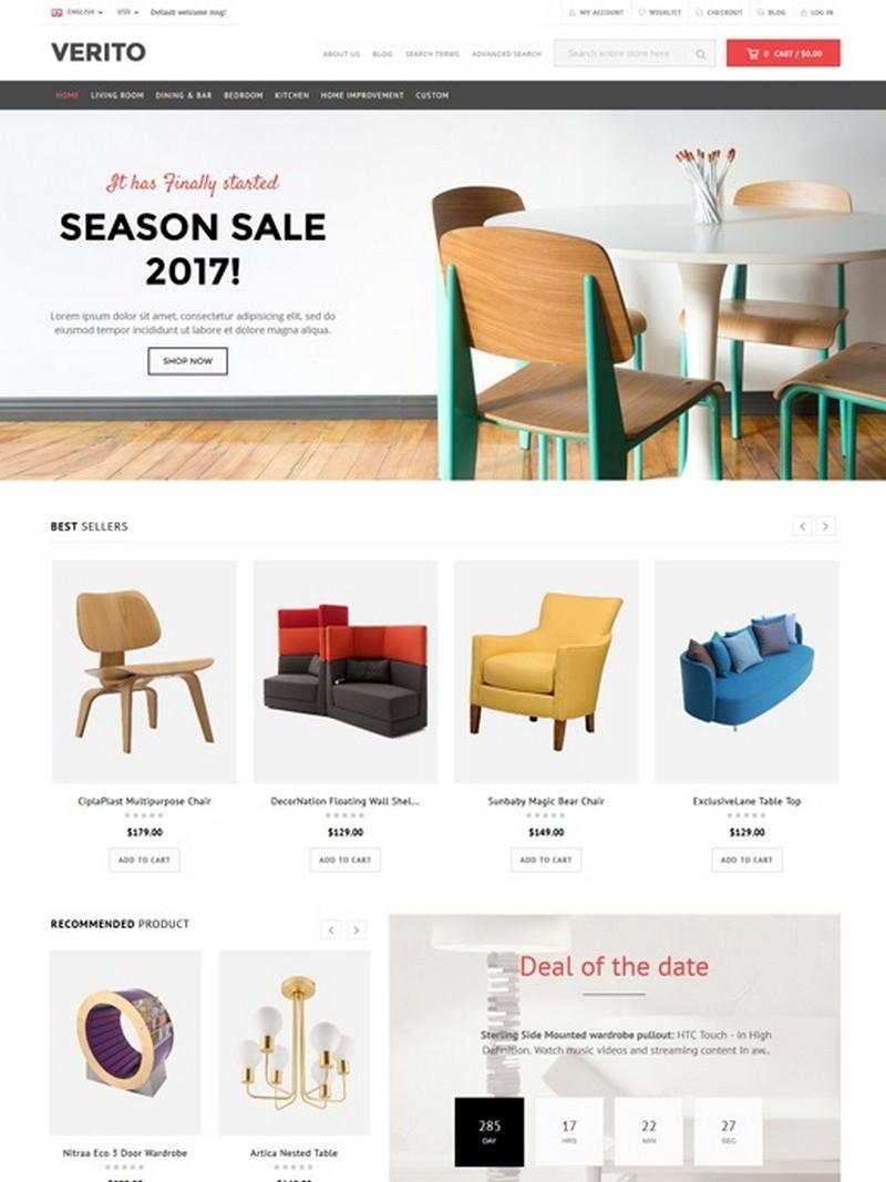 Verito - Furniture Store Magento Theme