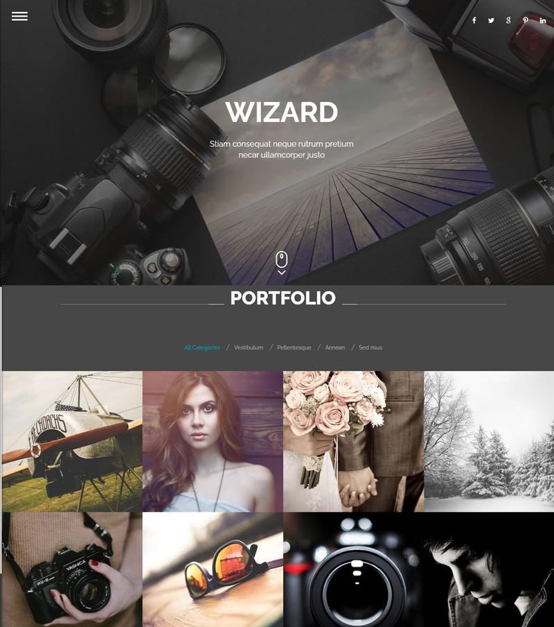 Wizard - Fullpage Portfolio WordPress Theme