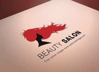Beauty Salon Logo PSD Mockup Template