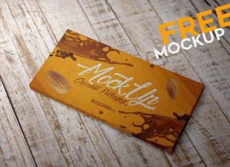 Realistic Chocolate Packaging Mockup (PSD)