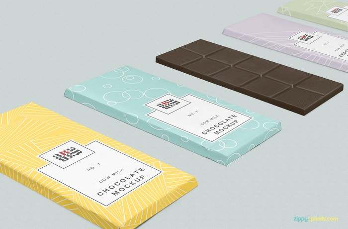 chocolate bar packaging mockup 3500x2300 px