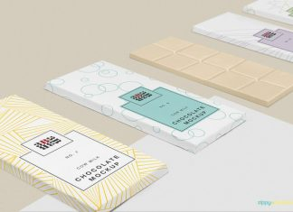 Cow Milk Chocolate Bar Packaging Mockup