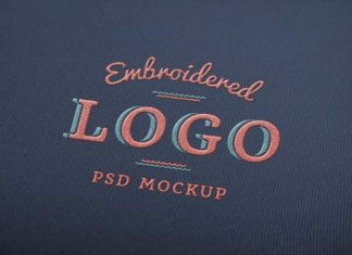 Elegant Embroidery Logo Mockup (PSD)